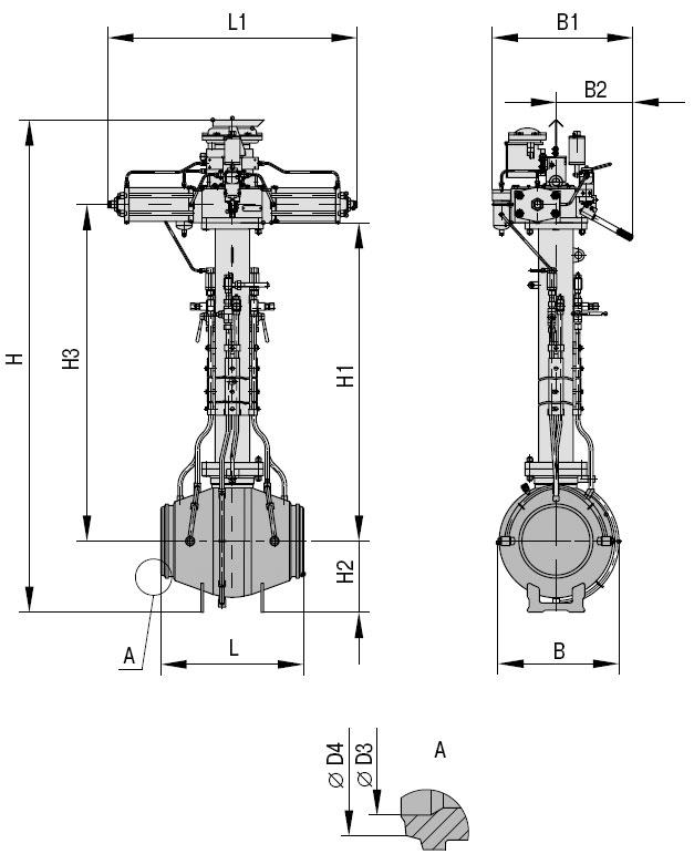 Кран шаровой 11лс(6)773п