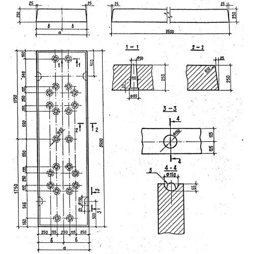 схема плиты фундамента