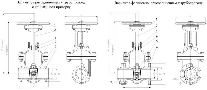 Задвижка клиновая с выдвижным шпинделем фланцевая 30с941нж (ПТ 11055)